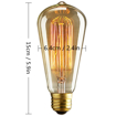 Picture of Edison Antique Bulb E27 Edison Screw Lamp Base Bulb Bars, Hotels, Karaoke, Restaurant, Cafe, Windows, Showrooms Decorative Bulbs [Energy Class A+]