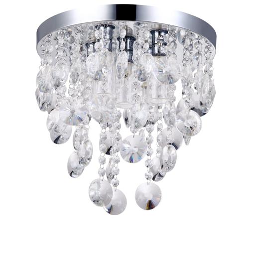 Picture of Bathroom Flush Ceiling Light Decorative Chrome Clearance (5 Light)
