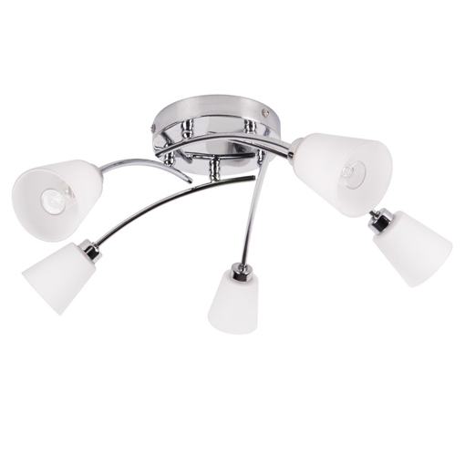 Picture of Marche 5 Light IP44 Rated Bathroom Ceiling Light in Satin Nickel