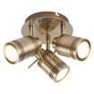 Picture of Samson 3 Spot Plate Light (IP44, antique brass)