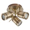 Picture of Samson 3 Spot Plate Light (IP44, antique brass)