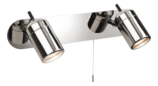 Picture of Modern Polished Chrome IP44 Twin Bathroom Wall Spotlight