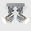 Picture of Modern Rectangular Silver Chrome 6 Way Adjustable
