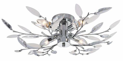 Picture of Willow 4 Light Semi Flush Chrome Ceiling Light