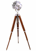 Picture of Wooden Floor Lamp Stand Shade Tripod Modern Brown