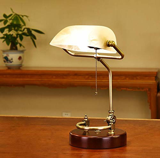Picture of American style administrative banker's lamp