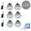 Picture of 6 x MiniSun Bathroom/Shower/Polished Chrom Ceiling Downlights