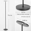 Picture of LED Dimmable Tall Standing Modern Pole Light