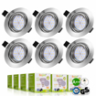 Picture of 6x LED GU10 Spot Lights Downlights Recessed Ceiling Light
