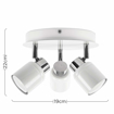 Picture of Modern Gloss White Adjustable 3 Way Round Plate Ceiling Spotlight