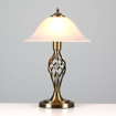 Picture of Traditional Style Antique Brass Barley Twist Table Lamp