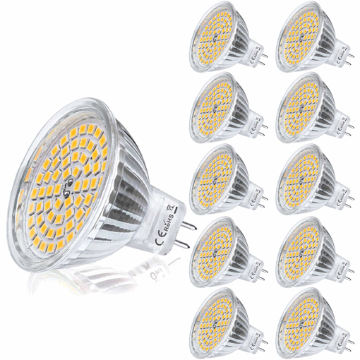 Picture of 10x GU5.3 LED 12V Bulbs MR16 Warm White Spotlight