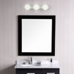 Picture of Hollywood Style 3 Light Over Mirror Pull Cord White Glass