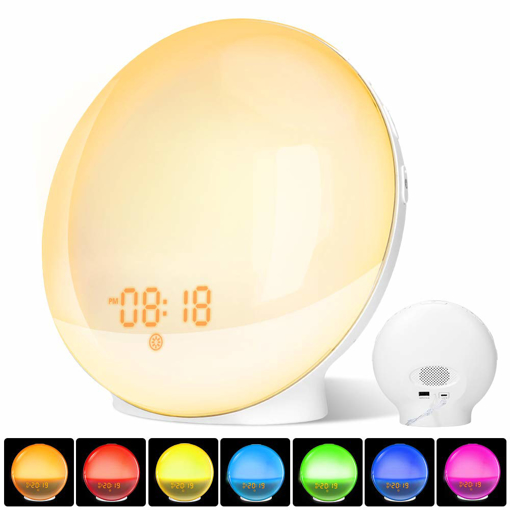 Picture of Alarm Clock Wake Up Light with Sunrise/Sunset Simulation Dual Alarms
