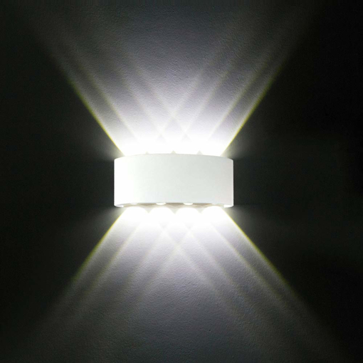 Modern LED Aluminium Waterproof Wall Lamp White Wall Lights UpMGqVzS