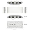 Picture of LED Wall Lights White Aluminium Waterproof Modern Wall Lamp