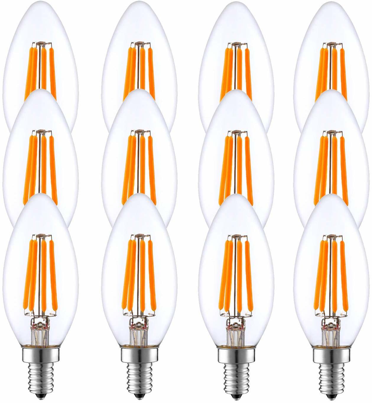 12 Pack E14 Led Candle Light Bulbs 40w Equivalent Room