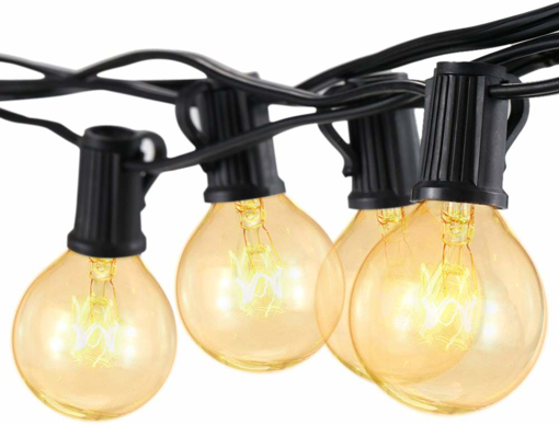 Picture of Outdoor Globe String Festoon Lights Mains Powered G40 Bulbs 25FT