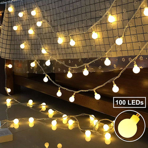 Picture of Globe Fairy String Lights 100 LEDs.