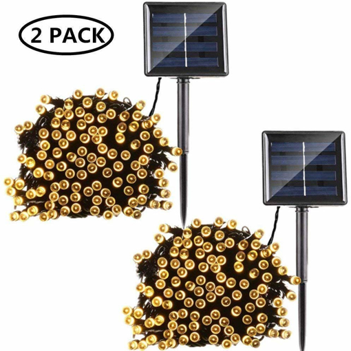 Picture of Solar String Lights, 2 Pack 33 ft