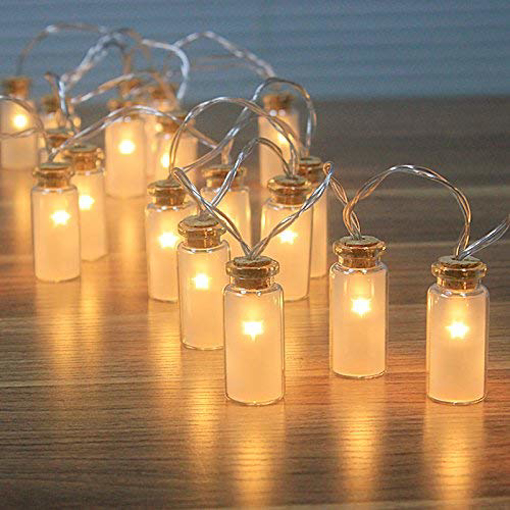 Picture of Retro/Vintage Glass Jar LED Fairy Lights Battery String Lights with Warm White 20 LEDs