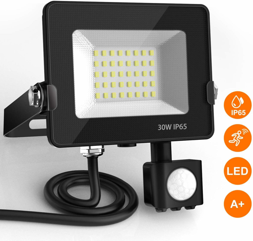 Picture of LED Floodlight with Motion Sensor, BEIEN 30W.