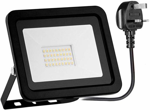 Picture of RIMARUP 30W LED Flood Light,220V Outdoor Led Flood Light with 180degree Adjustable Bracket 6000K 2500lm