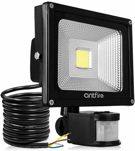 Picture of Antfire Motion Sensor Outdoor Security Light - 20W 2000 Lumen Super Bright Flood Light.