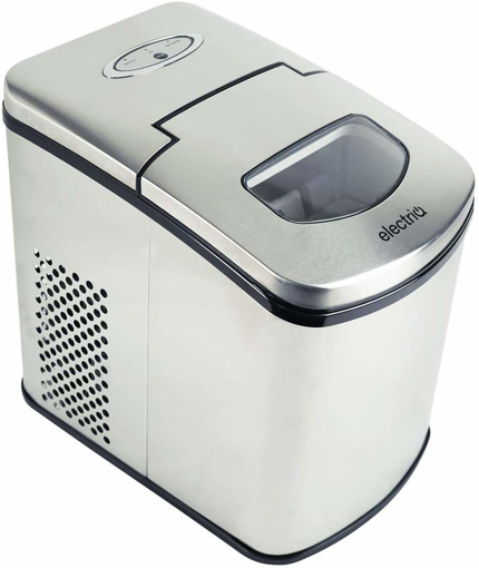 Picture of electriQ Ice Maker Machine - Counter Top Machine for Home Use - Make Cubes in 10 Minutes -