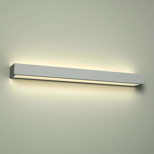 Picture of Milano Eamont 18W LED Chrome Rectangular Bathroom Up/Down Wall Shelf Light