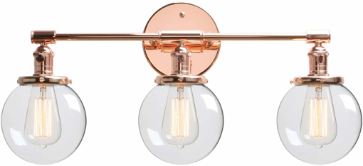 Picture of Phansthy Industrial Wall Light, 3 Lights Wall Lamp with Switch