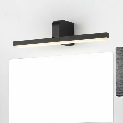 Picture of ECOBRT Black Bathroom Wall Lights LED Mirror Light Acrylic Mirror