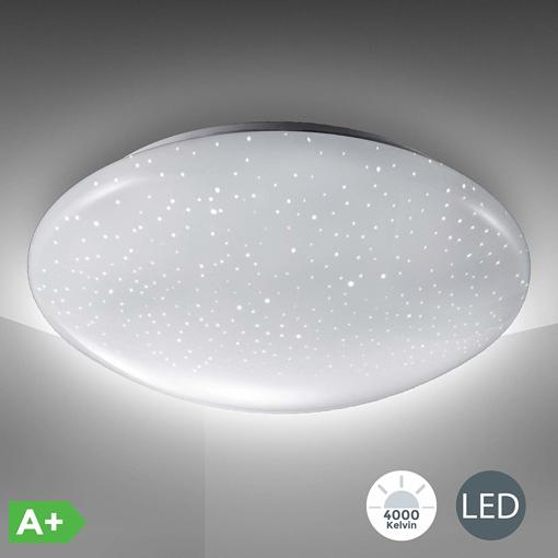 Picture of B.K.Licht LED Ceiling Light, Flush Light, Sparkling Glitter Star Light Effect