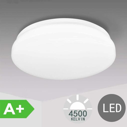 Picture of LED Ceiling Light Bathroom Lights Ceiling 18W Ceiling Lights Fitting, TECKIN 4500K Natural White 28cm