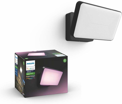Picture of Hue White and Colour Ambiance LED Discover Black Garden FloodLight, Compatible with Alexa