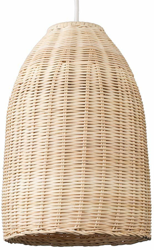 Picture of Modern Rattan Basket Ceiling Pendant Light Shade in a Natural Wicker Finish