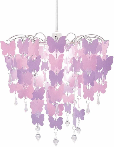 Picture of Easy Fit Universal Pink Butterflies Light Decoration Ceiling Lamp Chandelier Pendant