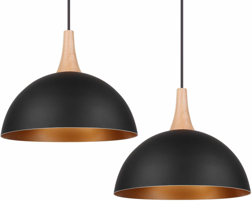 Picture of 2 x Ceiling Pendant Light Shade Industrial Chandelier Lamp E27 Base