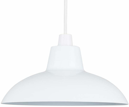 Picture of Retro Style Gloss White Metal Easy Fit Ceiling Pendant Light Shade