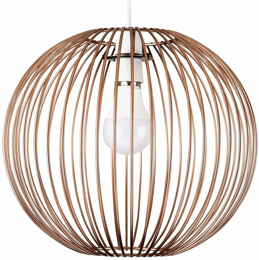 Picture of Retro Metal Basket Globe Ceiling Light Pendant ShadeCopper