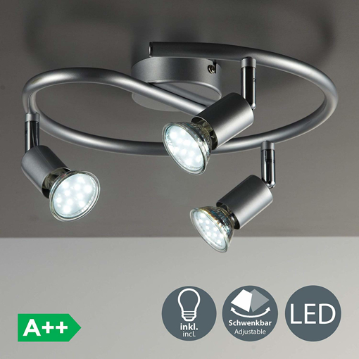 Picture of LED 3 Spot Ceiling Mounted Spiral Spotlight with 3x 3W GU10 bulbs