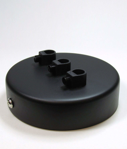 Picture of 3 POINT MULTI DROP OUTLET CEILING ROSE | Midnight Black