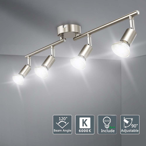 Picture of LED Ceiling Light Rotatable,4 Way Ceiling Spotlights