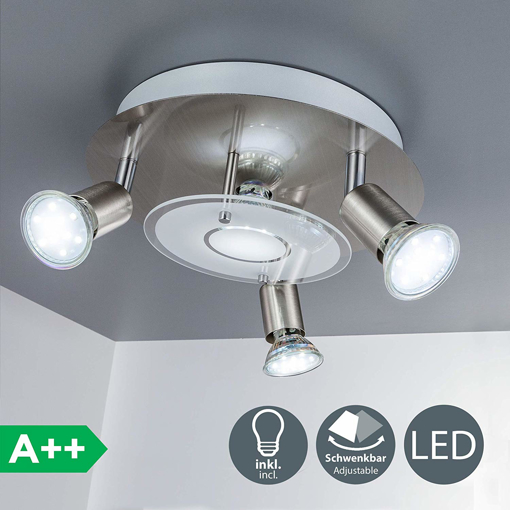 Picture of LED ceiling light 4 spots LED light rotatable spots