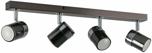 Picture of Straight Bar Ceiling Spotlight Fitting Black