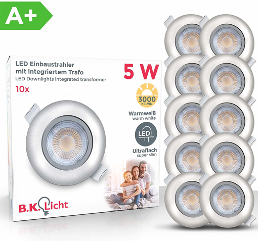 Picture of Set of 10 LED recessed ceiling spotlights LED Downlights