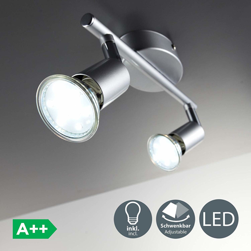 Picture of LED 2 Spot Ceiling Mounted Spotlight with 2x 3W GU10 bulbs