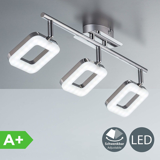 Picture of modern LED ceiling light, 3 built-in 4W LED boards, rotatable