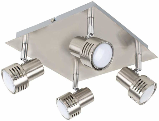 Picture of Modern Chrome 4 Way GU10 Square Ceiling Spotlight