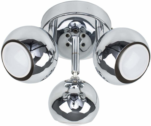 Picture of 3 Way Round Plate Adjustable Eyeball Ceiling Spotlight